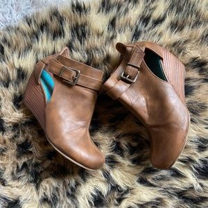 Wedge Booties Size 7